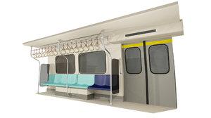 3D model mrt passenger compartment