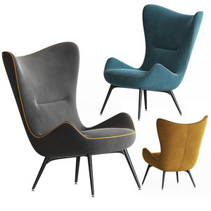 contessa armchair 1956 wittmann 3D