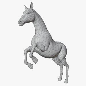 rigged horse base mesh 3D model