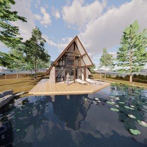 lake house 2 3D model