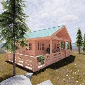 wood cottage - revit model