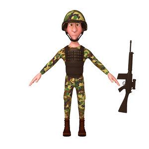 3D soldier cartoon