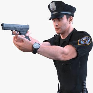 3D police officer 2020 pbr model
