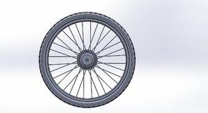 3D rear hub motor tire model