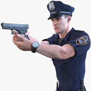 police officer 2020 pbr 3D model