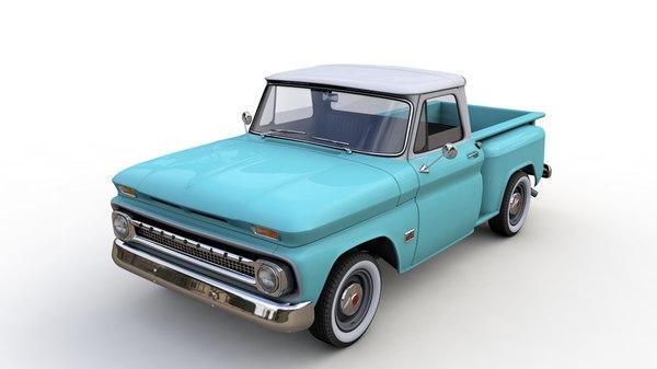 Chevy C10 V8 Pickup 1966 3d Modell Turbosquid 1572495