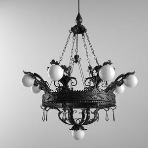 chandelier effe bi ferro 3D model