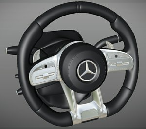 3D steering wheel s-class coupe