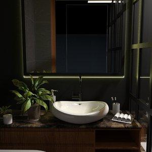 3D modern bathroom interior model