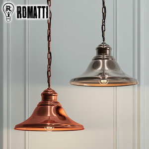 hanging lamp romatti valencia 3D model