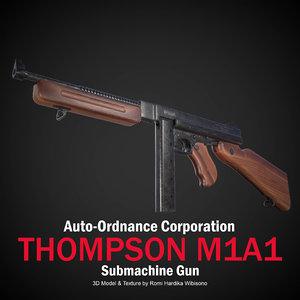 thompson m1a1 3D