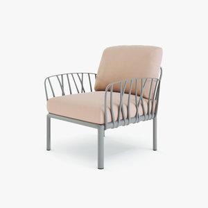 3D model pink grey green
