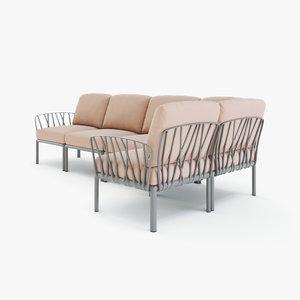 3D sofa komodo 5 nardi model
