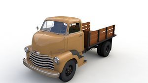 3D chevrolet coe flatbed truck