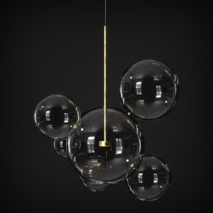 suspension light giopato coombes 3D model