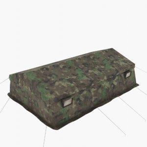 tent army 3D model