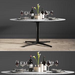 dinning table lemamobili 3D model