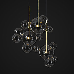 3D model suspension light giopato coombes