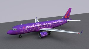 3D airbus a320 brussels airlines