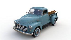 3D gmc 9300 pickup truck