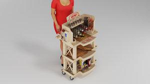 food trolley heinz sauces 3D model