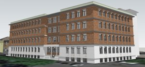 building rome italy ospedale 3D