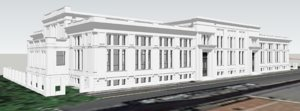 3D building rome italy palazzo