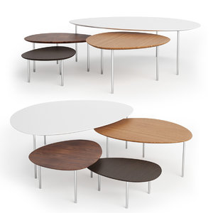 3d stua ecliple nesting tables model