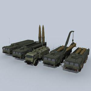 3D iskander-m battery vehicle model