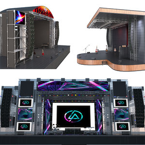 3D outdoor stages model