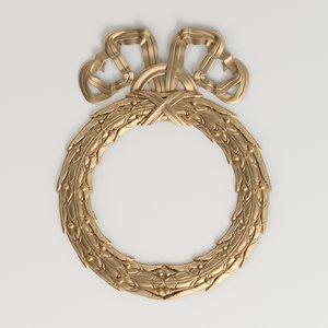 carved crown 3D model