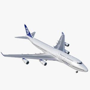 3D 747-400 air new zealand