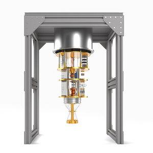 quantum processor 3D model