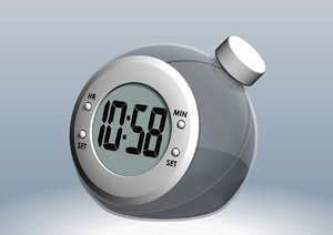 water powered clock 3D model