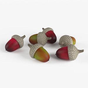 acorns decoration 3D model