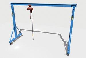 industrial crane pbr 3D