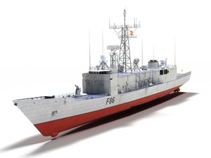 3D f-86 canarias class frigates