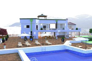 3D villa croatia model