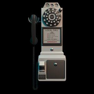 telephone electronic 3D model