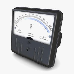 retro soviet ac voltmeter 3D
