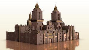 3D model mexico catedral metropolitana