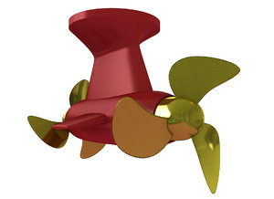 azimuth thrust thruster 3D model