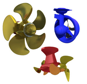 3D model propeller thruster