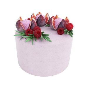 cake violet fig 3D model