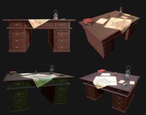 3D cartographer s desk wwii
