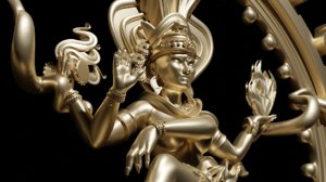 3D model shiva lord dance