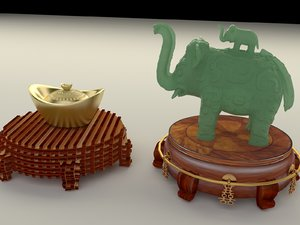 3D model chinese display stand