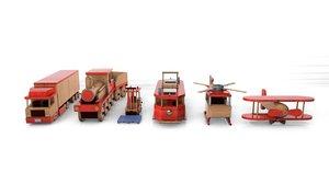 wood toy model