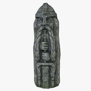3D celtic idol 05 model