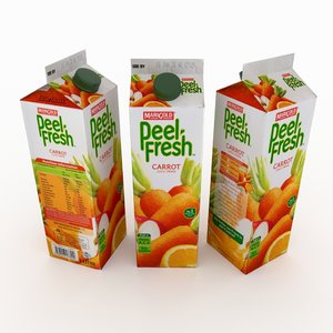 3D juice box model